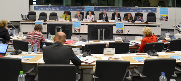 Photo from the hearing on The involvement and participation of older people in society (the panel)