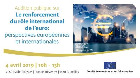 Le renforcement du rôle international de l'euro