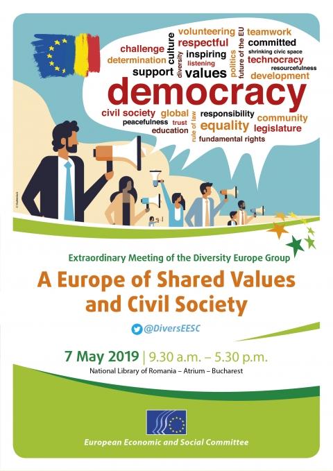 Calendario Social.A Europe Of Shared Values And Civil Society European