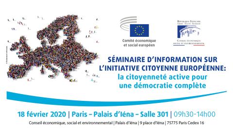 Affiche du séminaire sur l'initiative citoyenne européenne