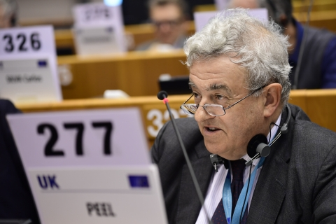 Jonathan Peel during the plenary session