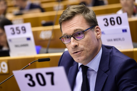 Workers' Group President Oliver Röpke at EESC Plenary in EP