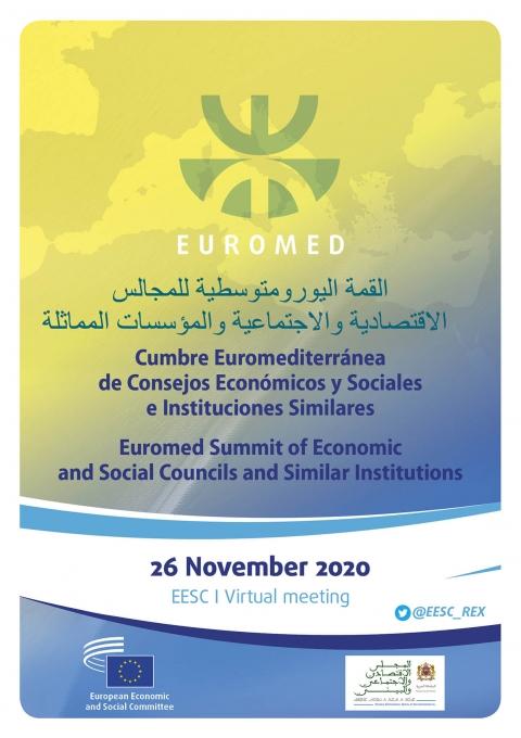 Cartel Cumbre Euromediterránea de Consejos Económicos y Sociales e Instituciones Similares