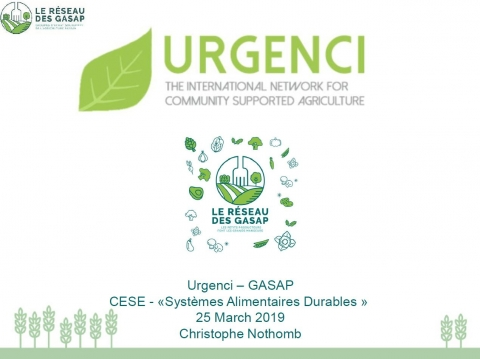 Christophe Nothomb - Urgenci The International Network for Community Supported Agriculture - GASAP