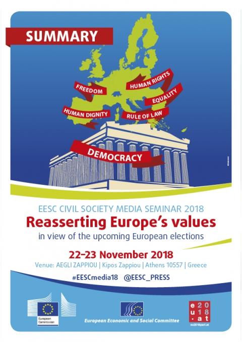 2018 Civil Society Media Seminar brochure out now | European