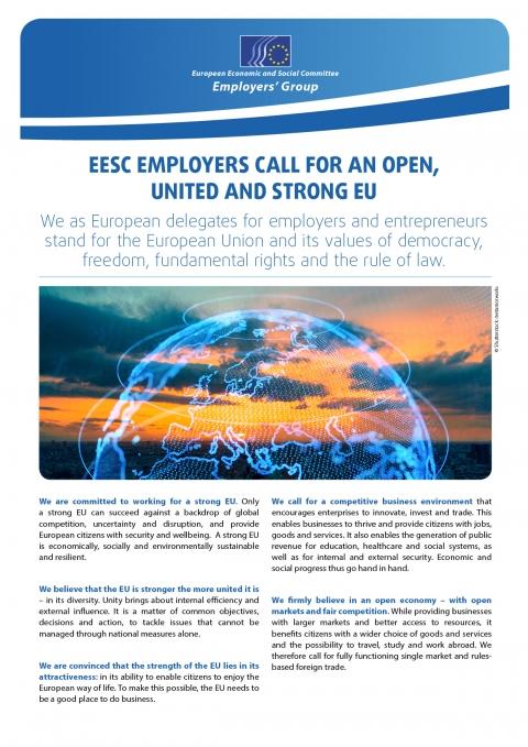 Investingcom Calendario Economico.Eesc Employers Call For An Open United And Strong Eu