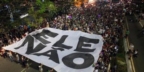 Demonstration against Bolsonaro