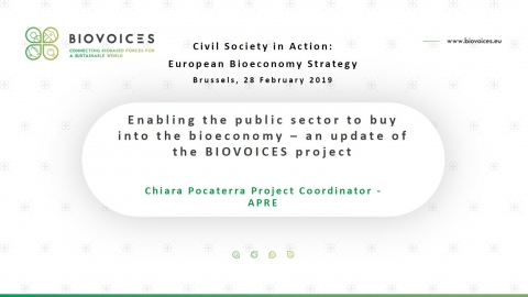 Enabling the public sector to buy into the bioeconomy - an update of the BIOVOICES project