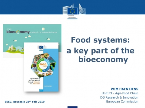Food Systems - A key part of the Bioeconomy