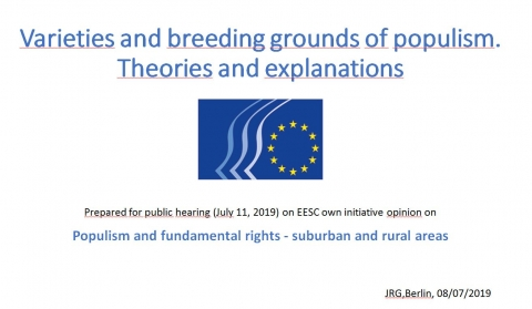 Jurgen Grote - Varieties and breeding grounds of populism.Theories and explanations