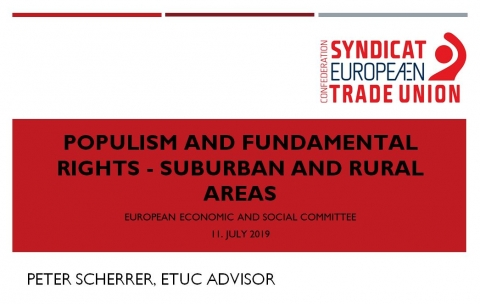 Peter Scherrer - ETUC - Populism and Fundamental Rights - Suburban and Rural Areas
