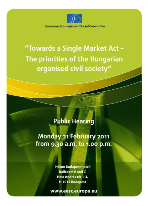 Poster of the public hearing