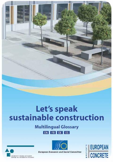 Let's speak sustainable construction