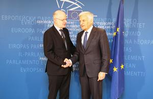 President Nilsson met EP President Jerzy Buzek