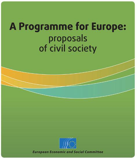 """A Programme for Europe: proposals of civil society"""