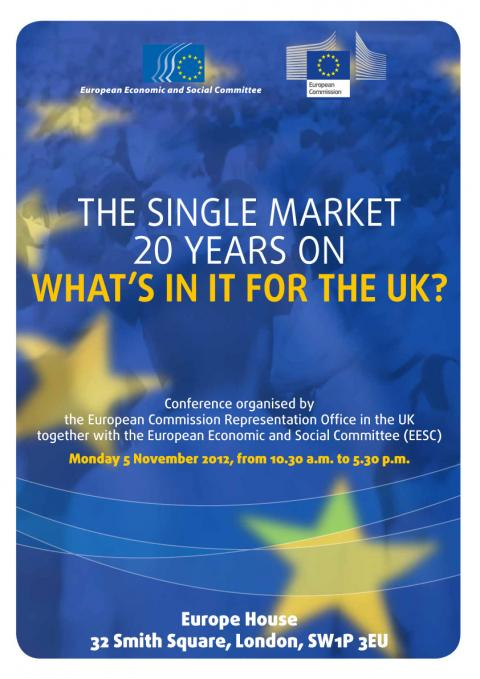 """european single market 20 years The single european market 20 years on 2 