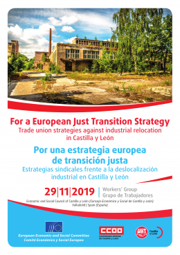 European just transition going local workers' group poster