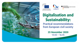 Digitalisation and Sustainability: practical recommendations from European civil society | 25/11/2020