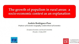 Andrés Rodríguez-Pose - London School of Economics - The Growth of populism in rural areas