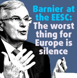 Barnier at the EESC: The worst thing for Europe is silence