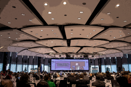 overview of the EESC plenary room