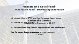 Insects and novel food - Innovative Food - Unblocking innovation