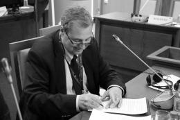 Black and white photo of Mr Bojidar Danev