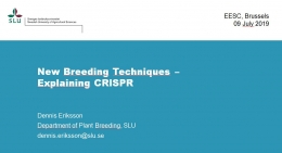 New Breeding Techniques - Explaining CRISPR