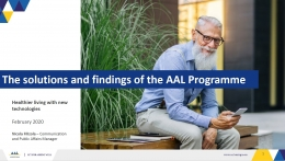AAL programme - ICT for ageing welle - www.aal-europe.eu