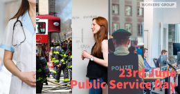 Public service day - police, doctor, teacher, civil servant, firemen