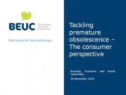 Tackling premature obsolescence – The consumer perspective