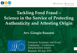 Tackling Food Fraud – Science in the Service of Protecting Authenticity and Attesting Origin