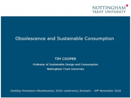 Obsolescence and Sustainable Consumption