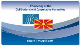 4th meeting of the EU - The former Yugoslav Republic of Macedonia Civil Society Joint Consultative Committee - poster