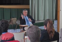 Mr Espuny Moyano, member of the EESC, visits the Instituto de Enseñanza Secundaria Jándula, Andújar, Spain