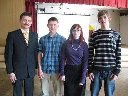 Mr Krauze visits school in Latvia