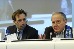 EESC Secretary General, Martin Westlake and the President of the EESC, Mario Sepi
