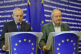 Joint press conference with Jacques Barrot and Mario Sepi