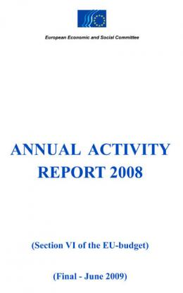 """Annual Activity Report 2008"""