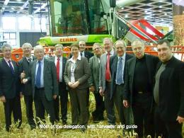 Most of the delegation with harvester and guide