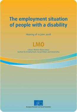 """The employment situation of people with a disability"""