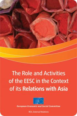The Role and Activities of the EESC in the Context of its Relations with Asia