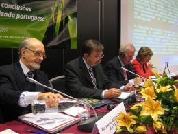 From left to right: Mr Jorge Pegado Liz, Mr Bernardo Hernandez Bataller, Mr Charlie McCreevy and Mrs Elisa Ferreira