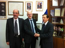From left: Yehuda Talmon, Staffan Nilsson, Isaac Herzog